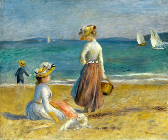 Figures on the Beach, by Auguste Renoir